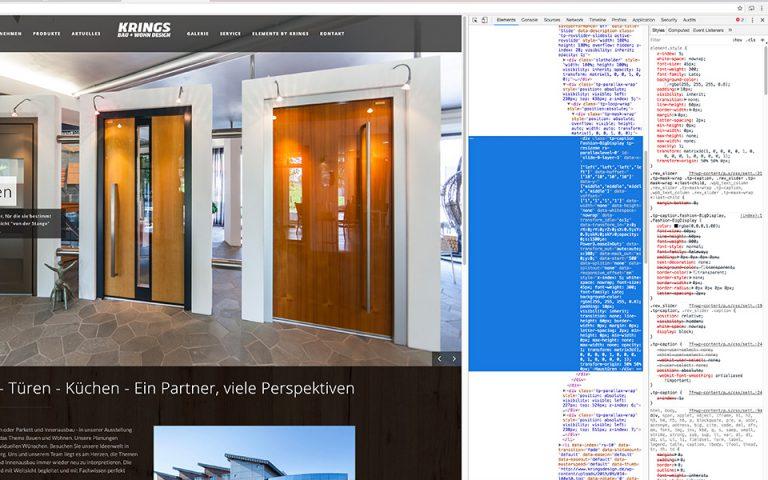 Suchmaschinenoptimierung KRINGS BAU+WOHN DESIGN GmbH