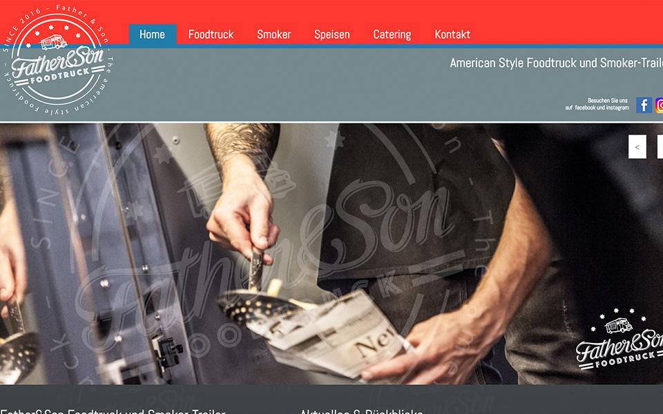 Webdesign und Webentwicklung Father&Son Foodtruck