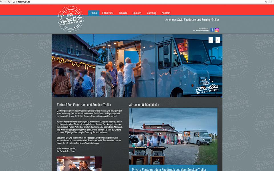 Webdesign und Webentwicklung Father&Son Foodtruck und Smokertrailer