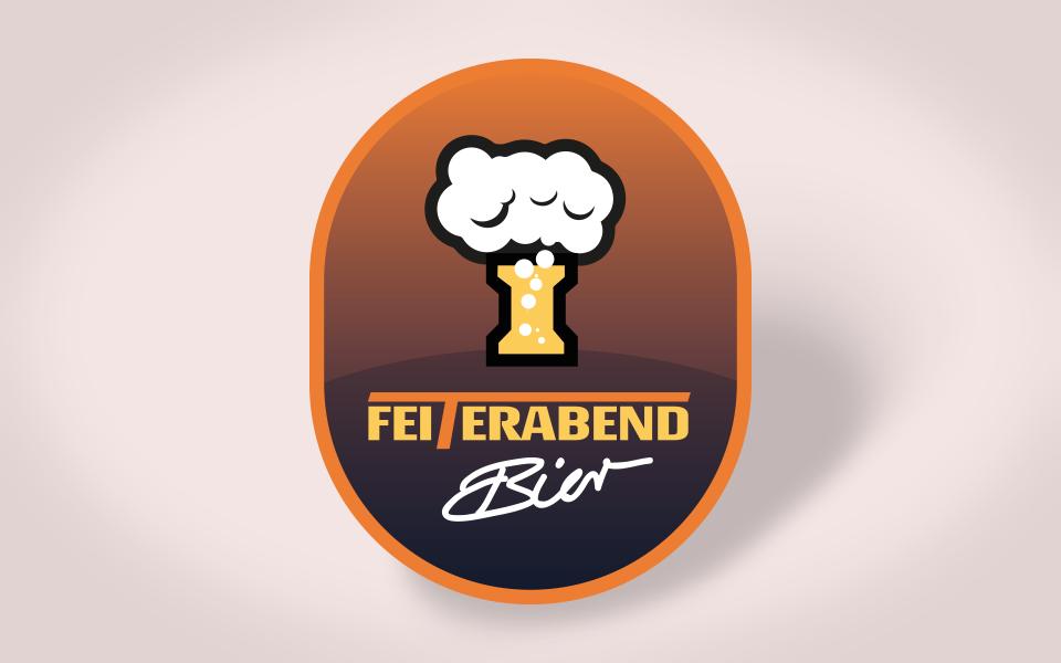 Das Feiterabend Bier, Logoentwicklung, Feiter Betonsteinwerke Linnich und Xanten