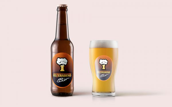 Corporate Design Feiterabend Bier Logo Entwicklung