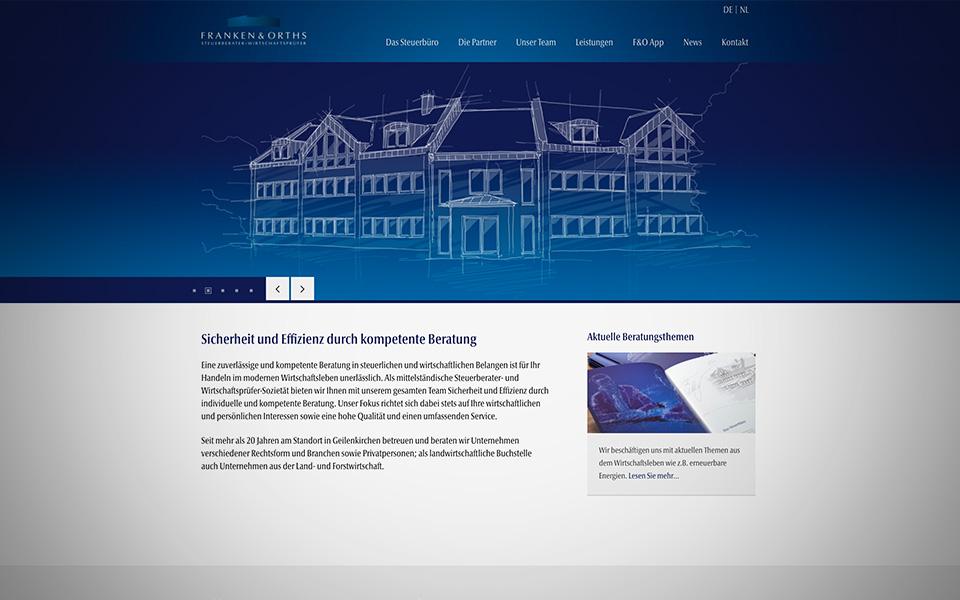 Webdesign und Webentwicklung Franken und Orths Steuerberater Wirtschaftsprüfer