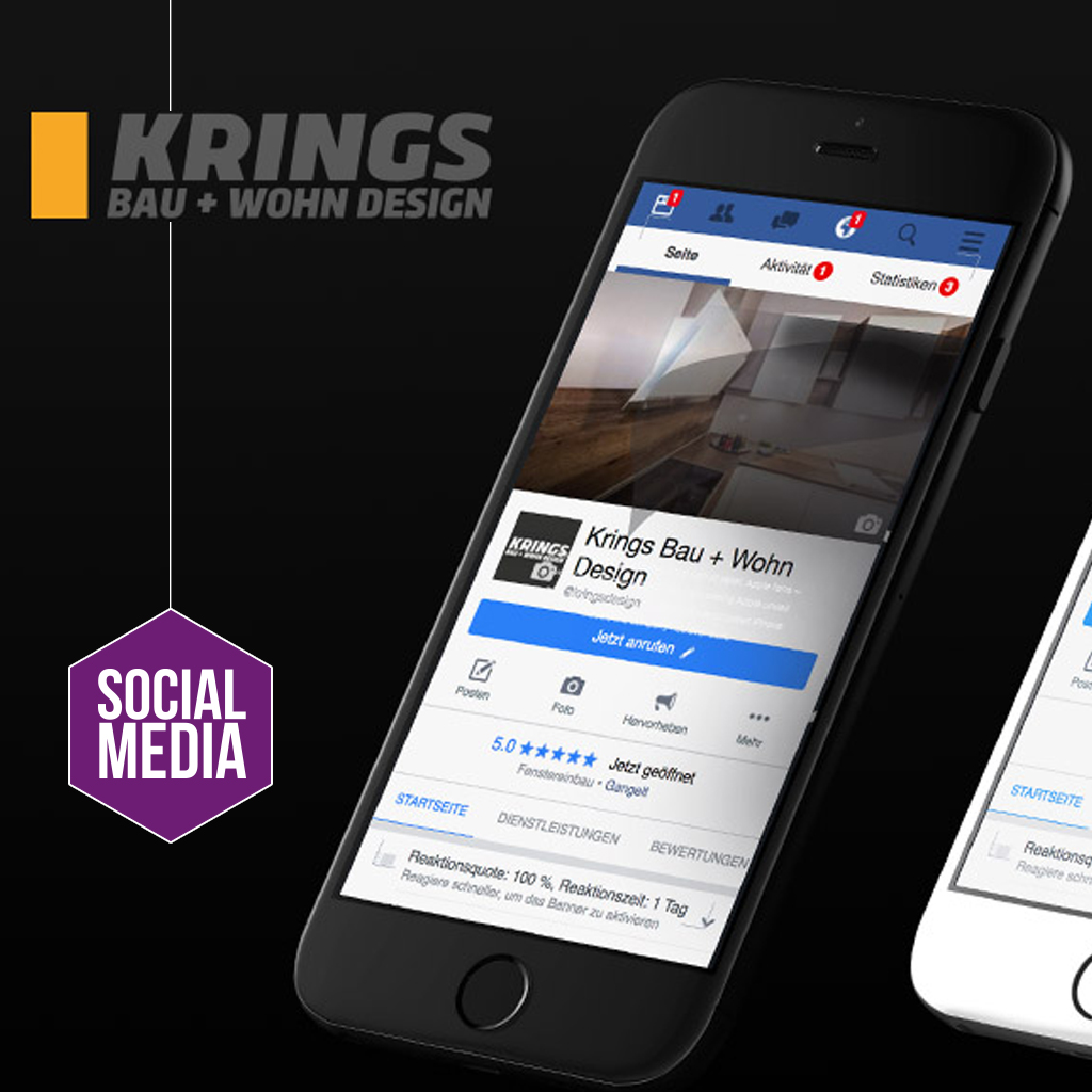 Social media krings bau wohn design gmbh orths medien gmbh for Wohn design