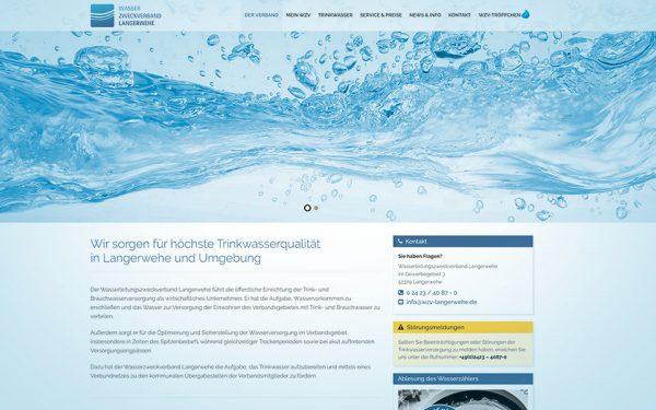 Webseiten und Webentwicklung Wasserzweckverband Langerwehe
