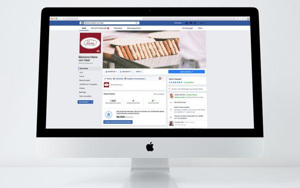Social Media Bäckerei Maria von Heel