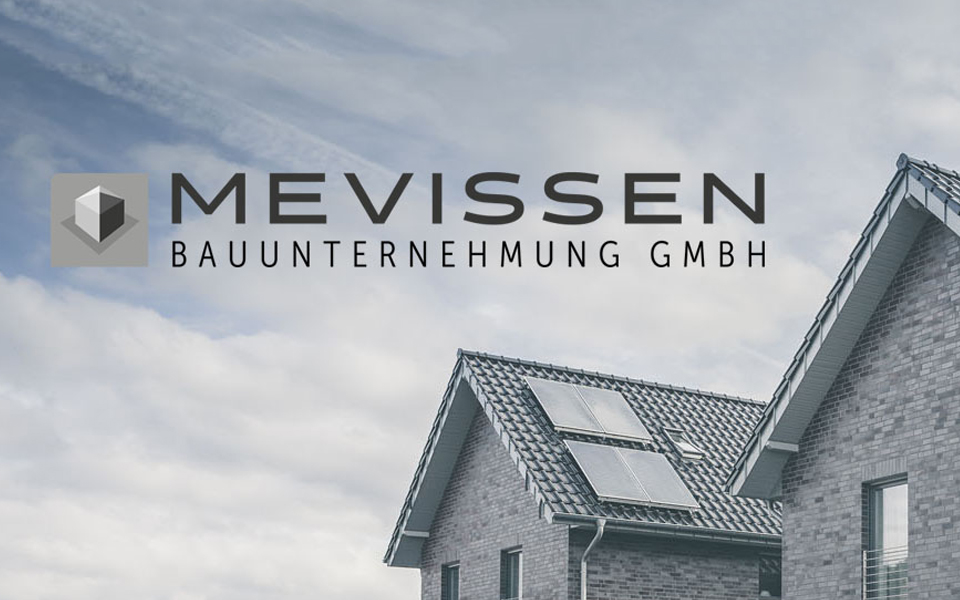 Corporate Design Bauunternehmung Mevissen