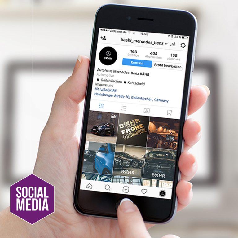 Social Media Autohaus Mercedes-Benz BÄHR