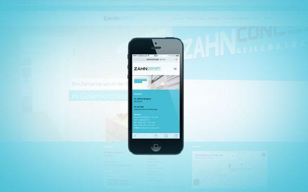 Webseiten und Webentwicklung zahnconcept Bongartz & Saxe