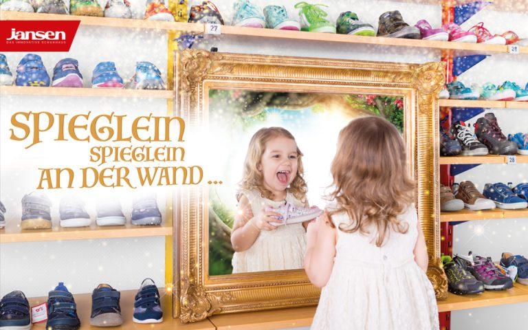 """Fotografie Schuhhaus Jansen Kampagne """"Spieglein, Spieglein …"""""""