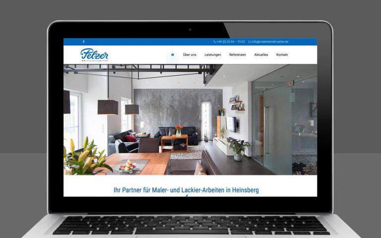 Webentwicklung Malerbetrieb Pelzer