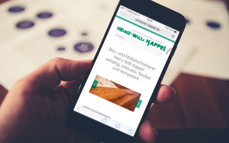 Webseiten und Webentwicklung Schreinerei KAPPEL GbR