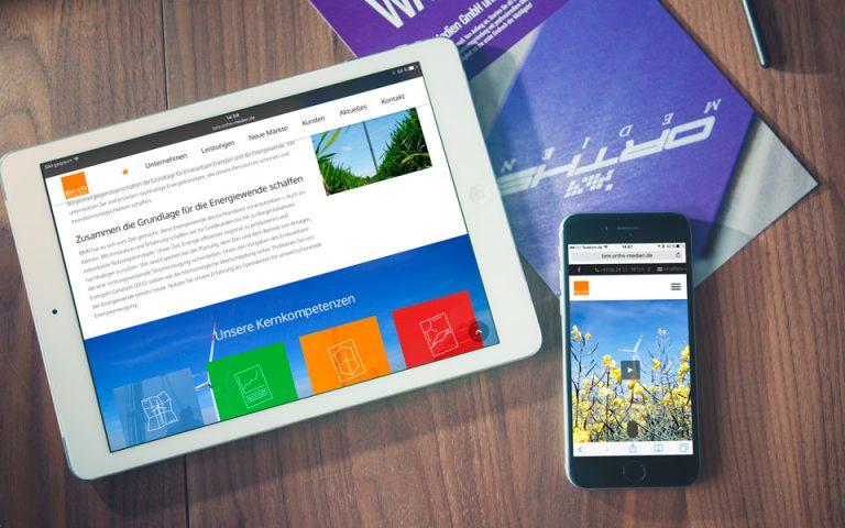 Webentwicklung BMR energy GmbH