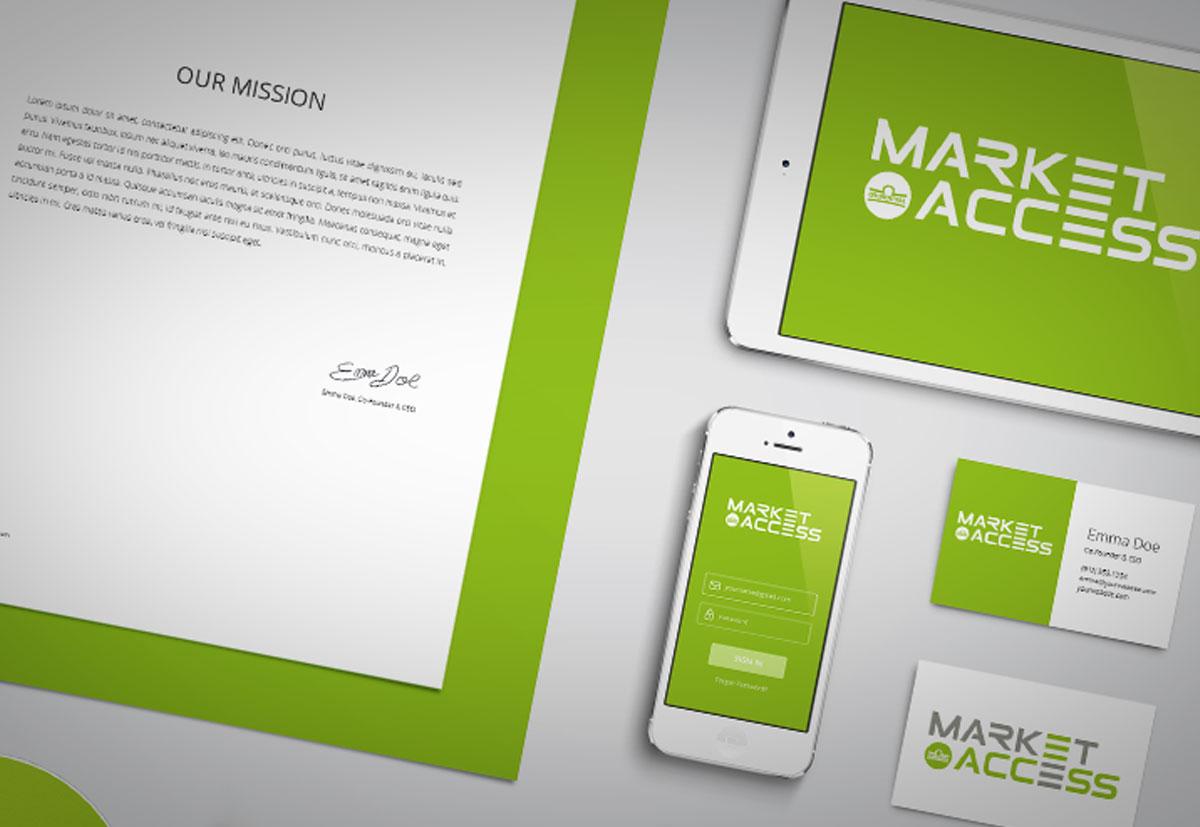 Corporate Design Beispiel anhand von Visitenkarten, Birefbogen und Webdesgin