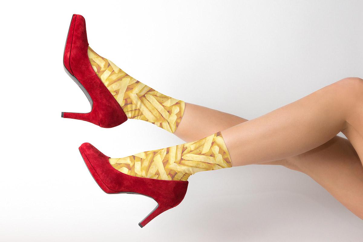 Ein Foto einer Kampagne für ein Schuhhaus
