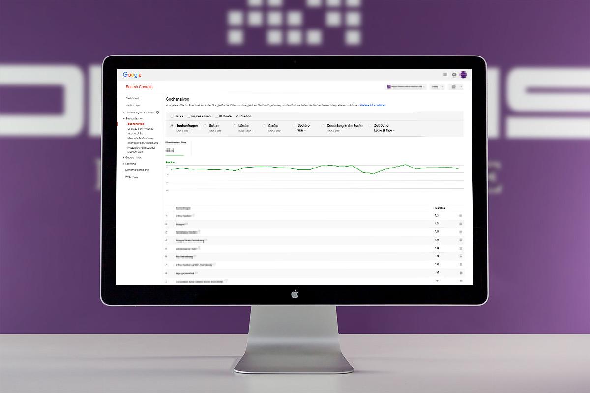 Monitoring einer Webseite durch die Google Search Console