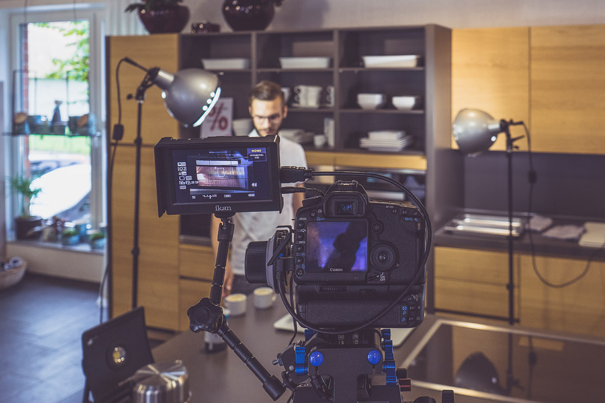 Bei KRINGS Wohn+Bau wird ein Werbevideo gedreht