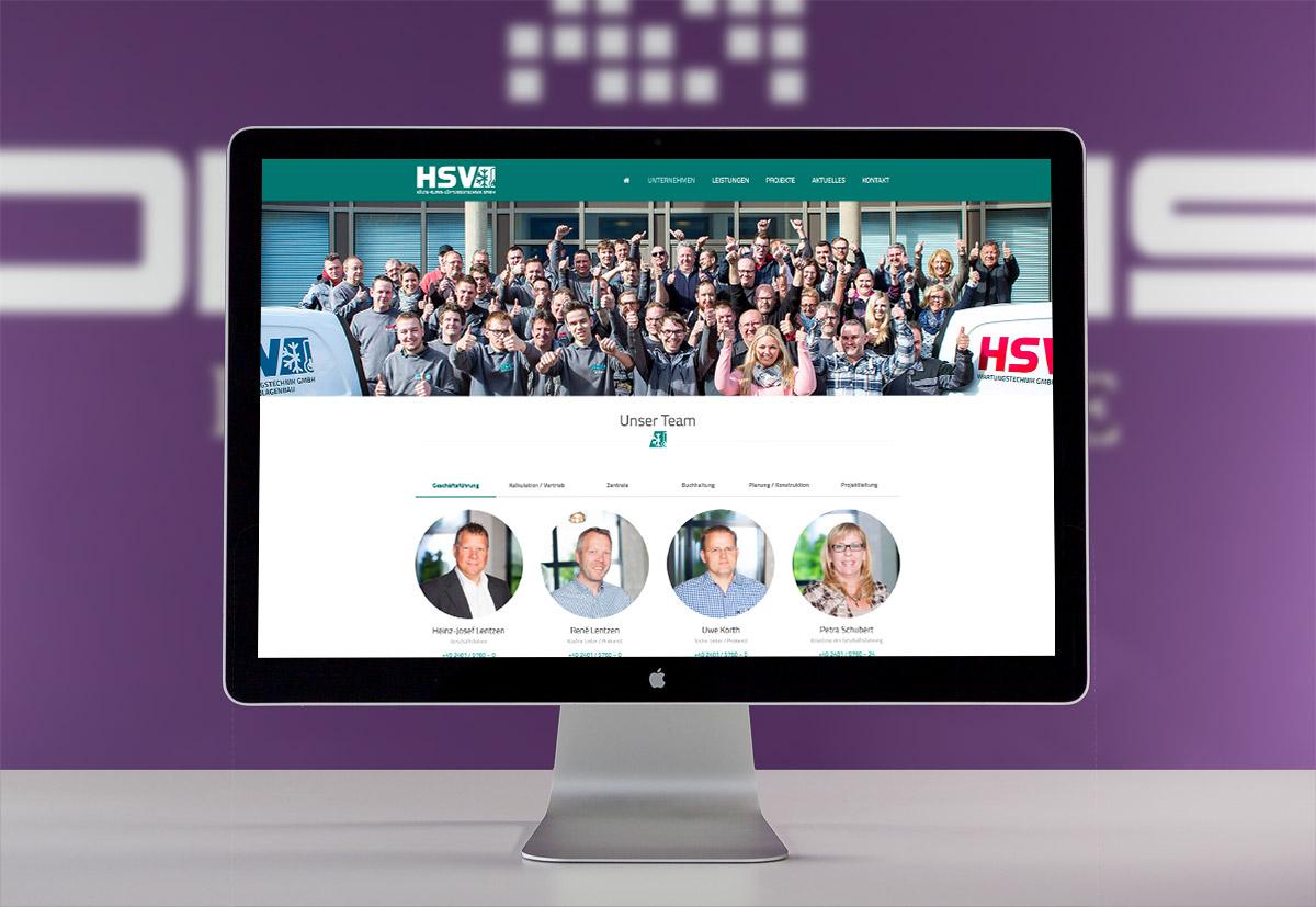 Die Teamseite der Webseite der HSV Kältetechnik aus Baesweiler