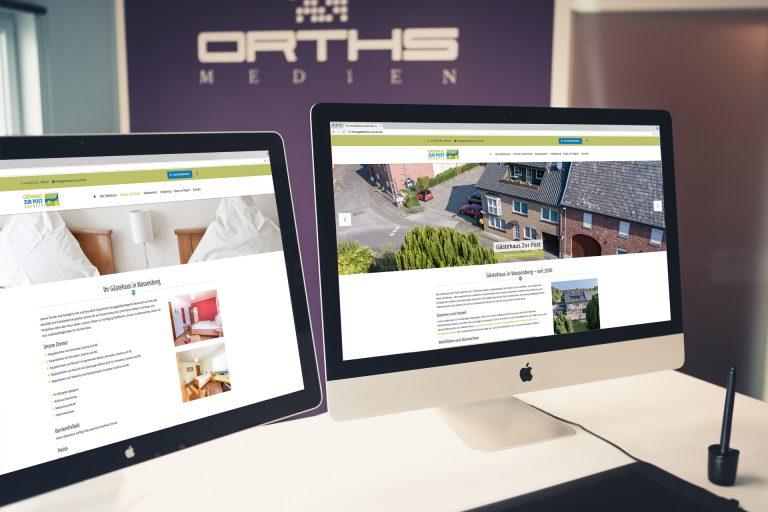 Website Entwicklung Gästehaus zur Post
