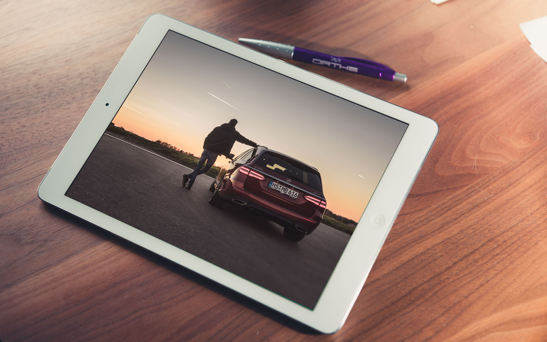 iPad Mercedes-Benz Fotografie