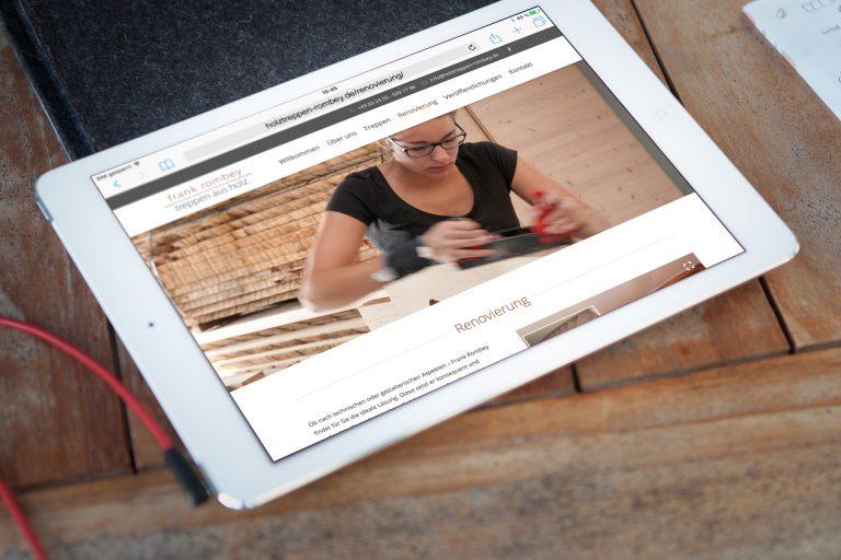 Website Entwicklung Holztreppen Rombey