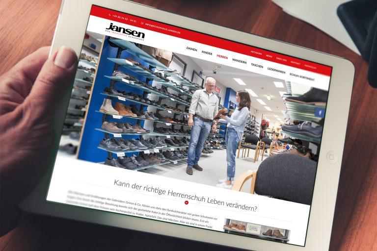 Website Entwicklung Schuhhaus Jansen