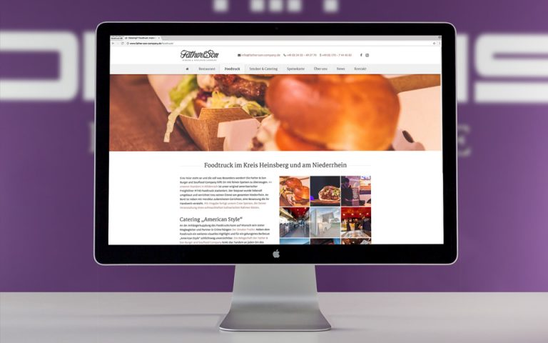Website Entwicklung Father & Son – Burger & Soulfood Company