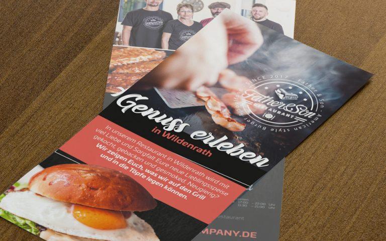 Printmedien Father & Son – Burger & Soulfood Company
