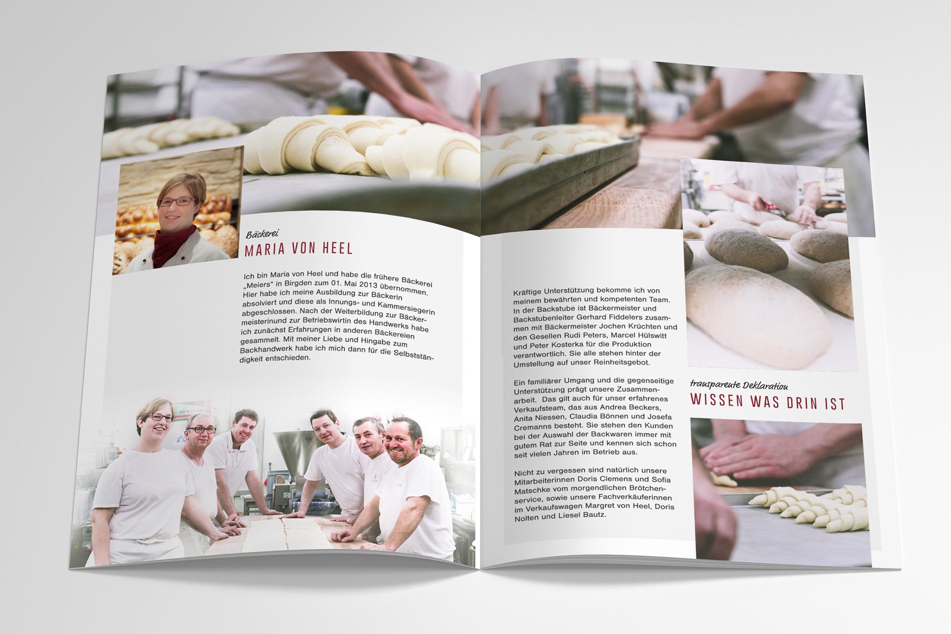Printmedien Bäckerei Maria von Heel - Orths Medien GmbH