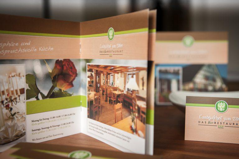 Printmedien Bio-Restaurant Vogter Adler