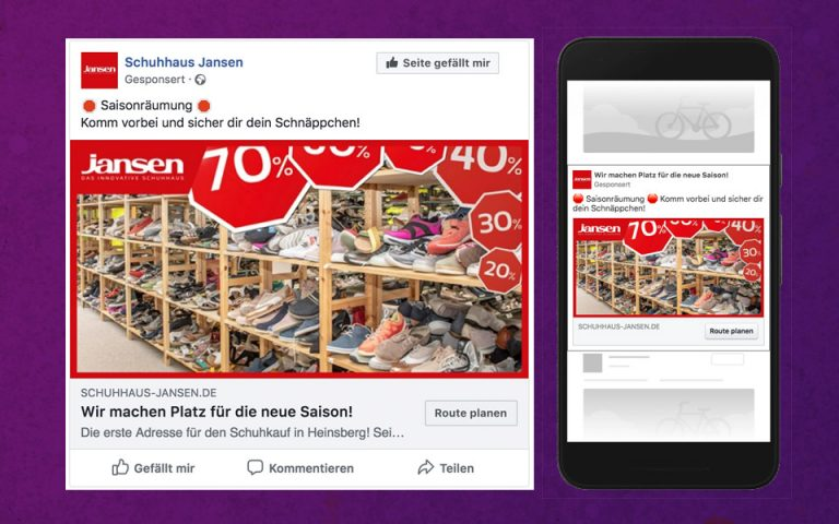 Social Media Marketing Kampagne Schuhhaus-Jansen