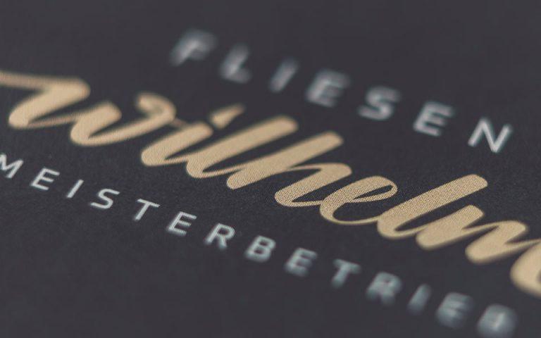 Corporate Design: Fliesen Wilhelm
