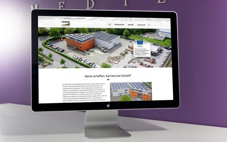 Website Entwicklung Stellenportal Schleiff Bauflächentechnik GmbH & Co. KG