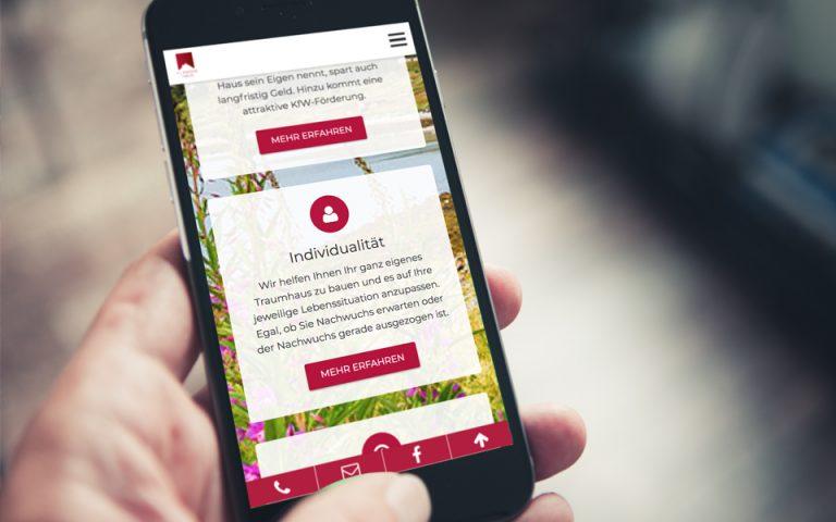 Website Entwicklung Fläming Hausbau