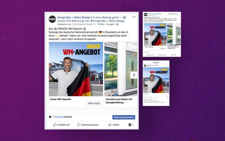 Social Media Marketing Kampagne Krings Bau + Wohn Design