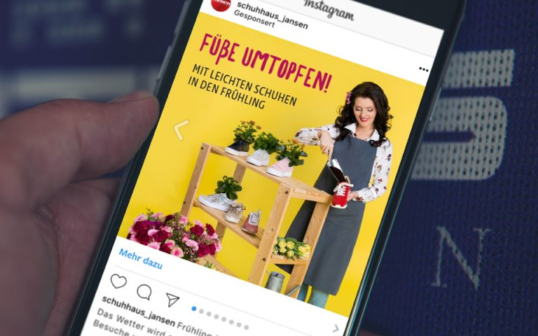 Social Media Marketing Kampagne Schuhhaus-Jansen