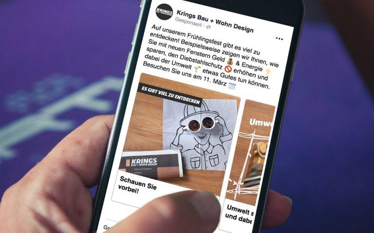 Social Media Marketing Krings Bau+Wohn Design