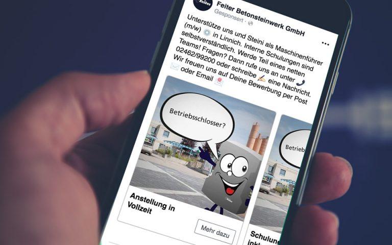 Feiter Betonsteinwerk GmbH, Social Media Marketing