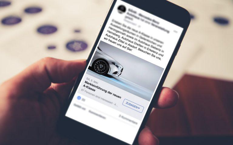 Social Media Marketing Kampagne Mercedes-Benz BÄHR