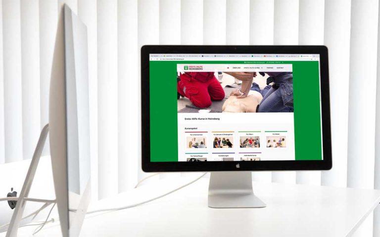 Website Entwicklung Erste Hilfe Heinsberg