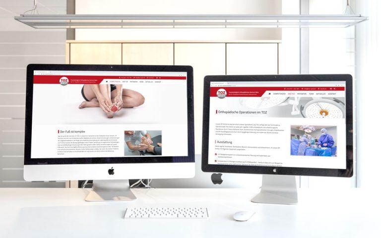 Website Entwicklung TOZ WEST
