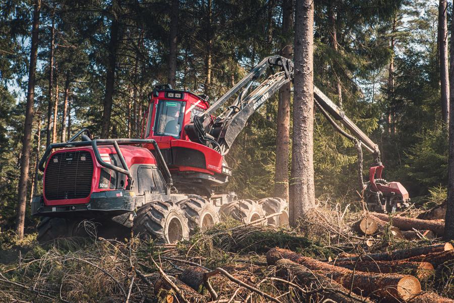 Der Harvester geht forsch zu Werke (© Orths Medien GmbH)