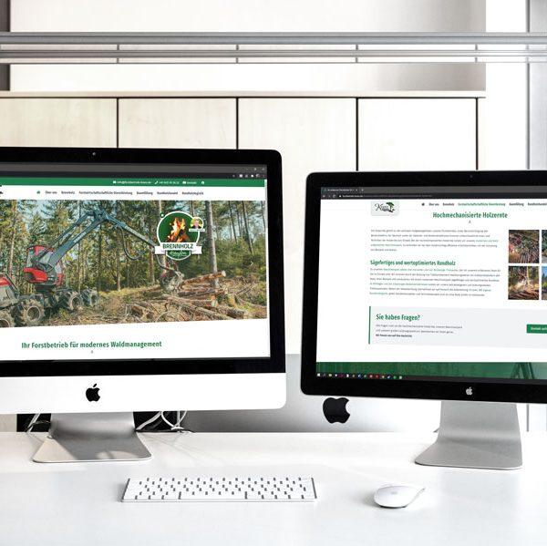 Die neue Website des Forstbetriebs (© Orths Medien GmbH)