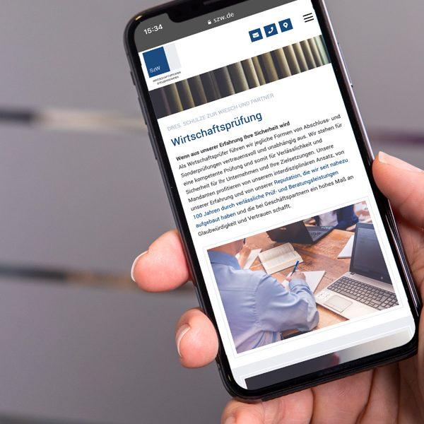 Mobiloptimiertes Webdesign (© Orths Medien GmbH)