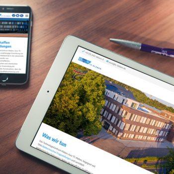 Durch das neue Webdesign navigiert man komfortabel durch das umfangreiche Angebot des TC (© Orths Medien GmbH)
