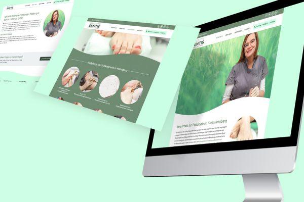 Die neue Website von Brigitte Sentis (© Orths Medien GmbH)
