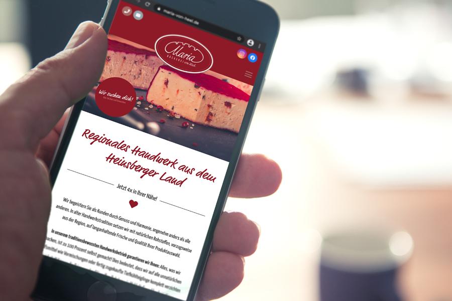 Das aufgefrischte Webdesign der Bäckerei (© Orths Medien GmbH)
