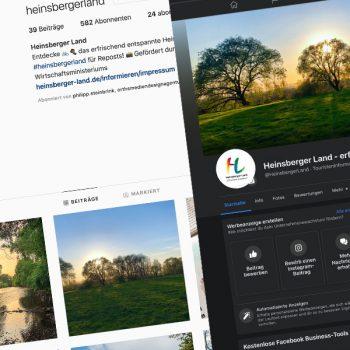 Im Aufbau: Die Social Media-Kanäle des Heinsberger Landes (© Orths Medien GmbH)
