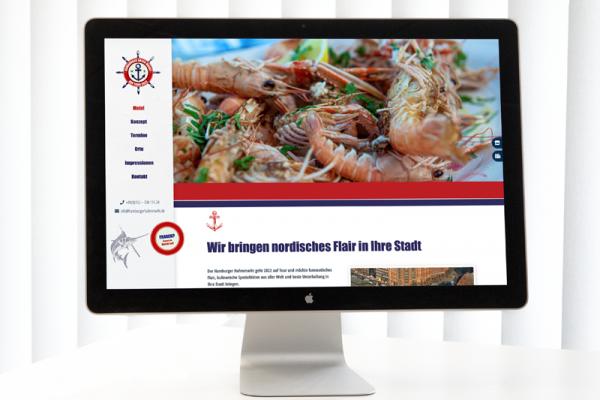 Die neue Website des Hamburger Hafenmarkts (© Orths Medien GmbH)